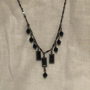 Jewelry - Black Chocker length Necklace with Black Beads